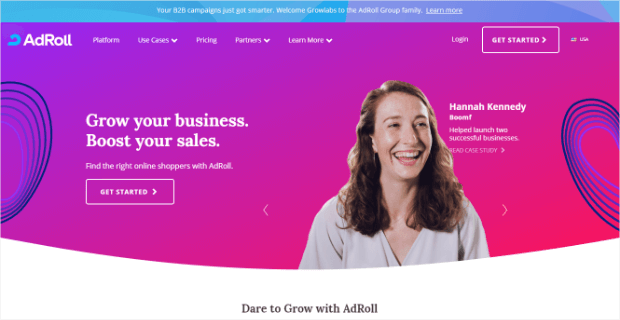 adroll lead gen software