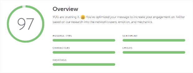 coschedule's social message optimizer