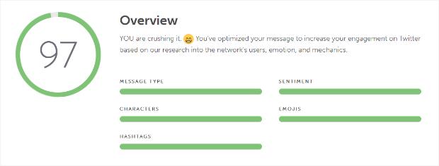 coschedule's social message optimizer