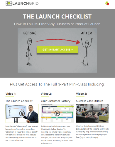 DigitalMarketer launch checklist landing page