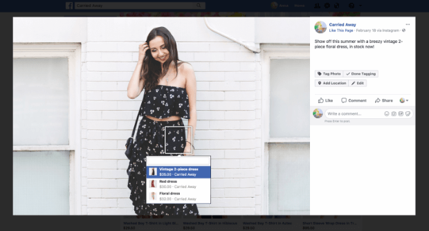 facebook sales channel desktop view