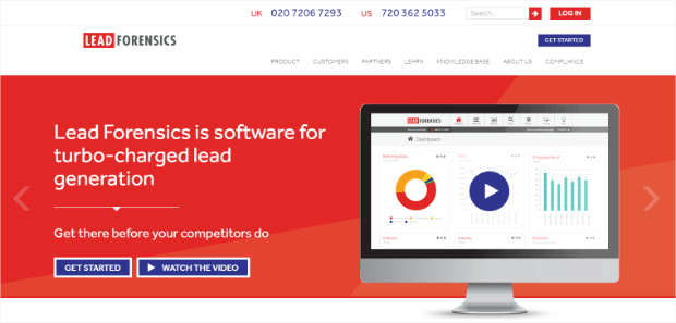 lead generation marketing tools - lead forensics