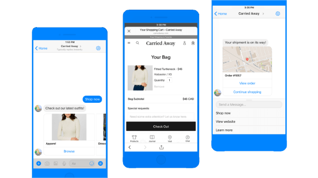 messenger mobile sales example