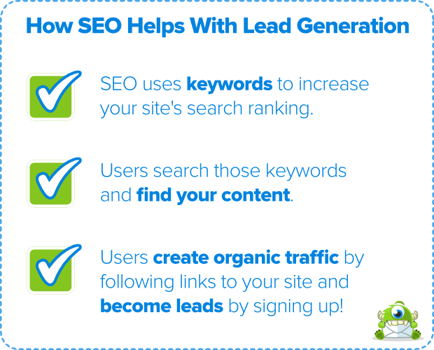 how seo helps with lead generation