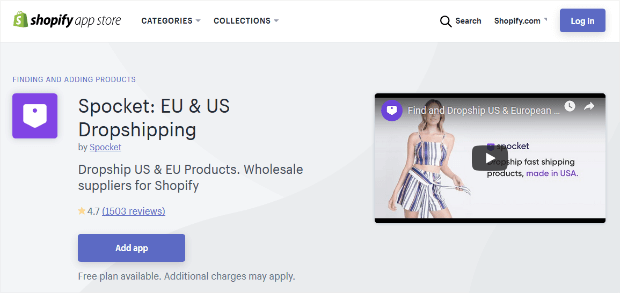spocket dropship shopify app