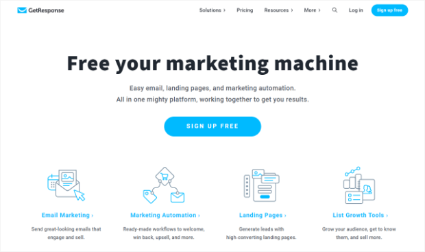 getresponse email marketing automation