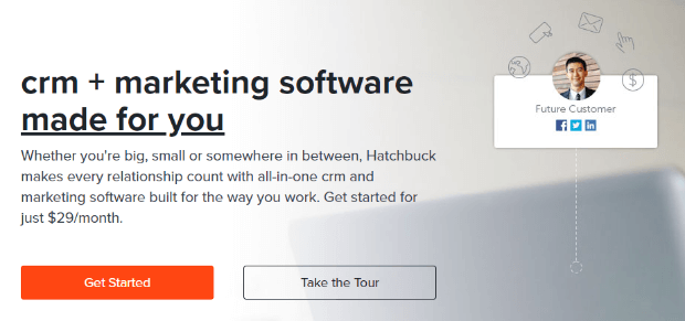 hatchbuck crm marketing software