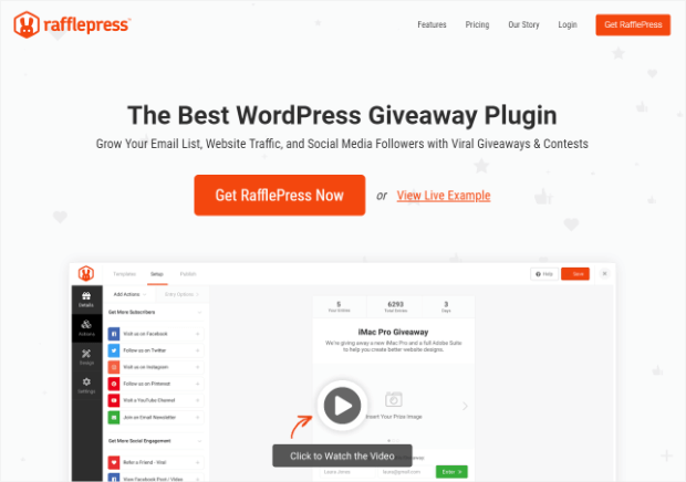rafflepress is the best wordpress giveaway plugin