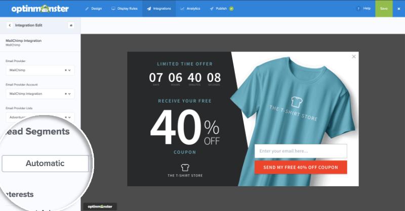 MailChimp Lead Segments Automatic