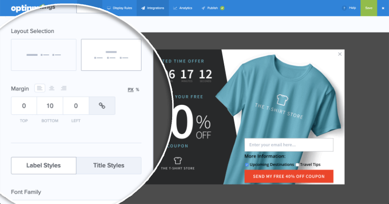 MailChimp Lead Segments Styles