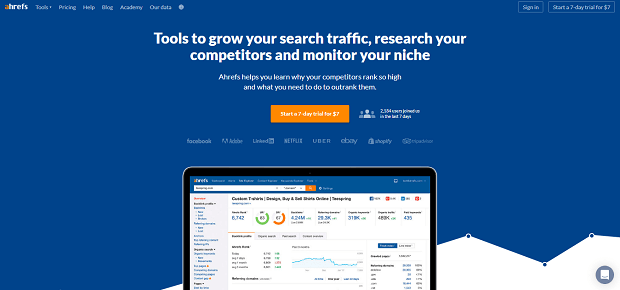 best affiliate marketing tools - ahrefs