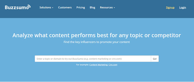 BuzzSumo competitive research tools