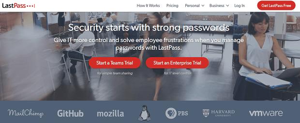 herramientas de seguridad de redes sociales - lastpass