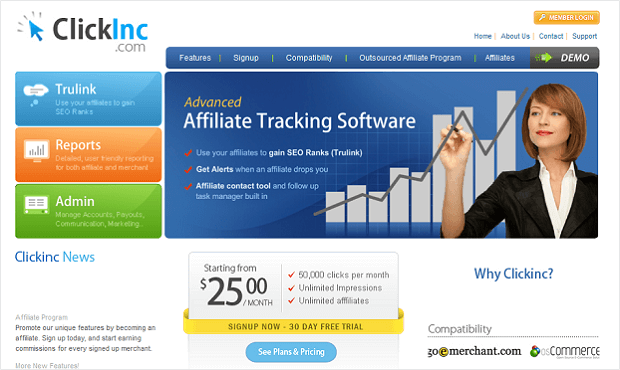 affiliate marketing tools - clickinc