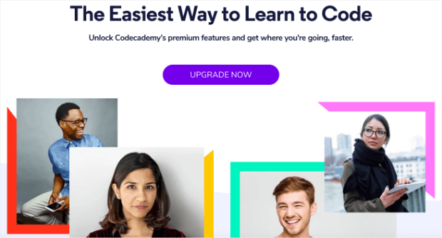 codecademy landing page design tips