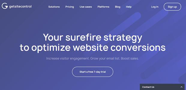 optimize conversions - getsitecontrol wordpress plugin