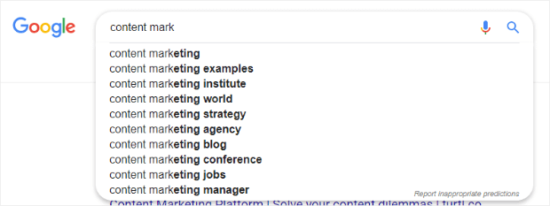 google search showing additional phrases that can be used as lsi keywords