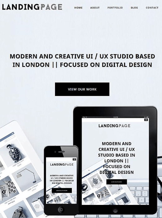 landing page design tips wordpress theme