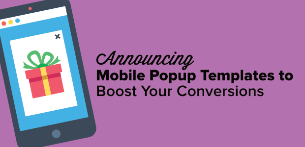 mobile popup templates to boost your conversions