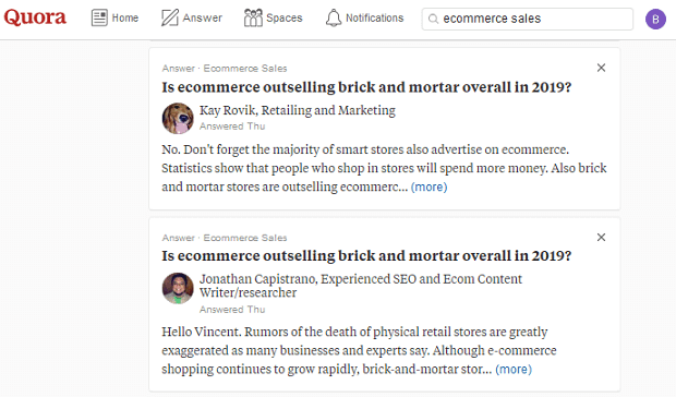 nurture campaign examples - using quora