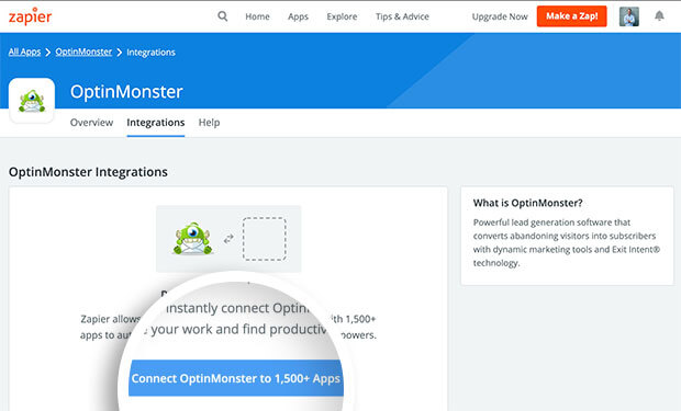 OptinMonster Zapier App