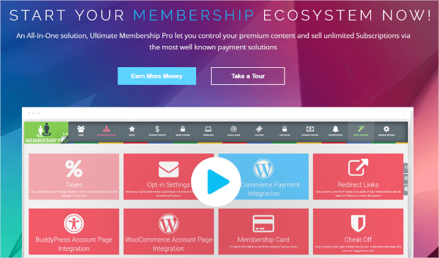 ultimate membership pro plugin homepage