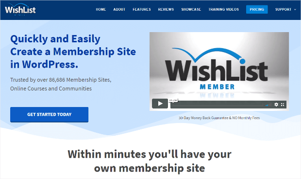 wishlist member wordpress membership site plugin