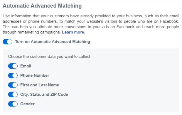 automatic advanced matching