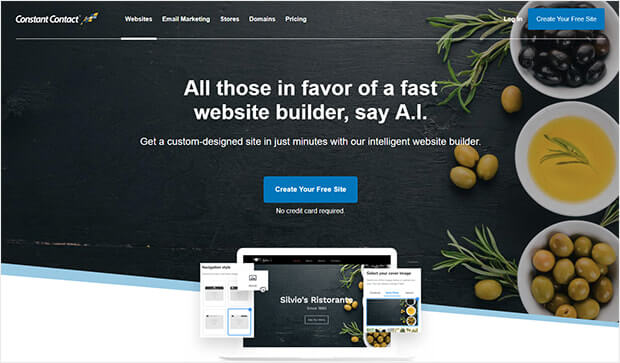 Constant Contact website builder for small businesses