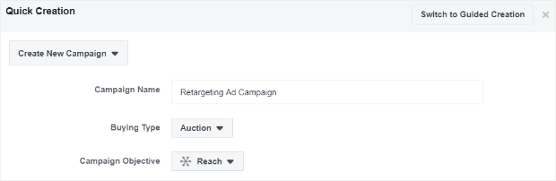 create reach campaign
