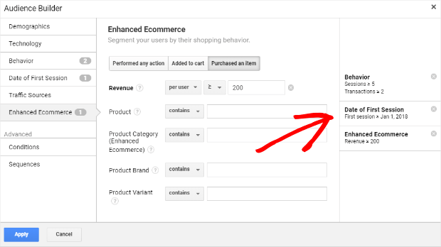 high-value user parameters in google analytics