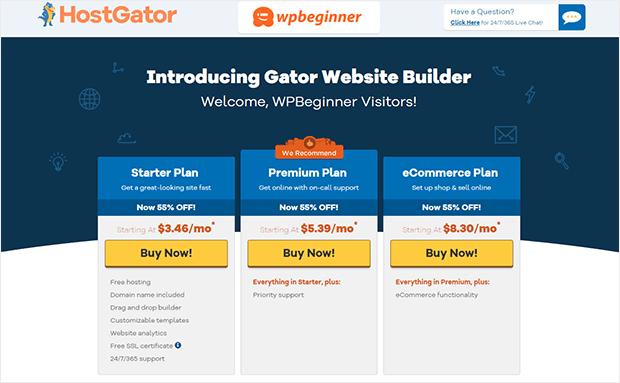 Gator Website Builder for small businesses