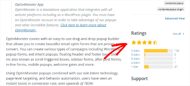 wordpress plugin page reviews