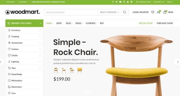 woodmart woocommerce template