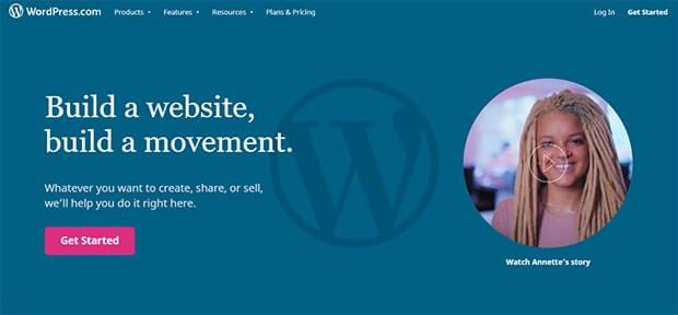 WordPress.com website builder