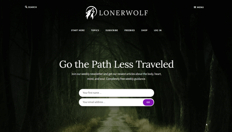 LonerWolf Home Page