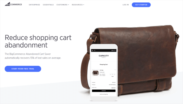 bigcommerce cart abandonment software