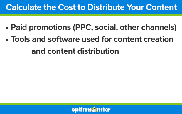 calculate the cost to distribute your content