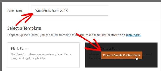 create a simple form