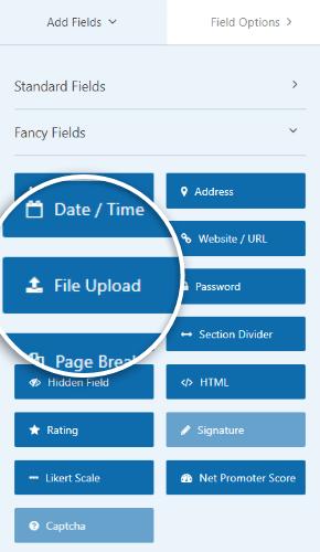 add file upload field