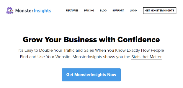 grow your business with confidence with monsterinsights