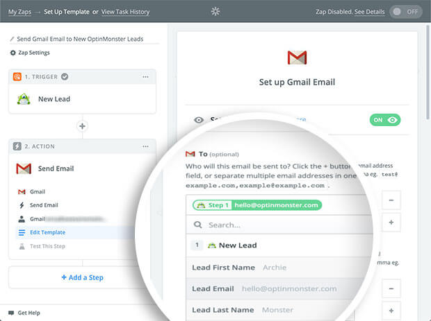 How to Send Subscribers an Email from Gmail with Zapier and OptinMonster
