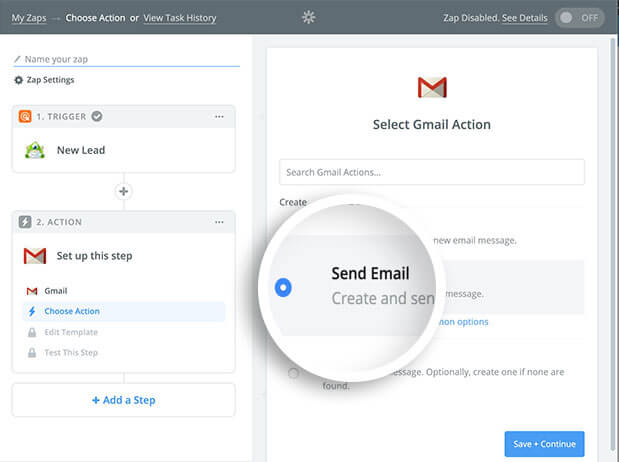 Send email option in Gmail