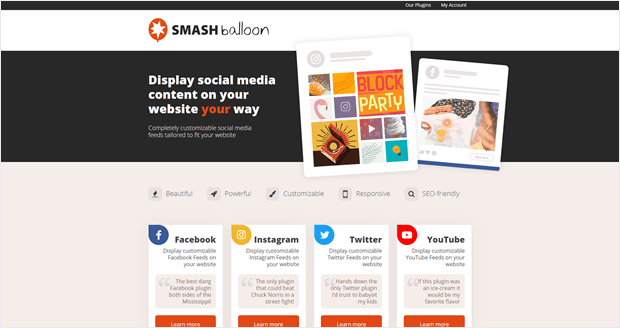smash balloon homepage