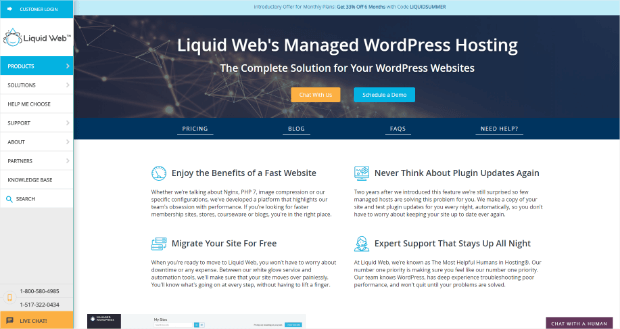 liquid web managed wordpress hosting provider