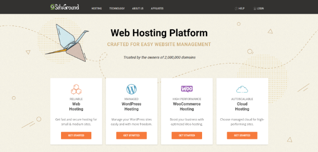 siteground managed wordpress hosting provider