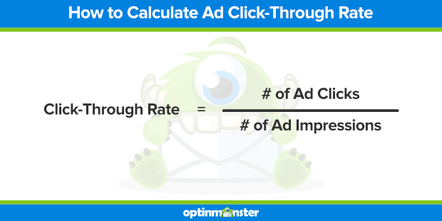 ad click-through rate formula