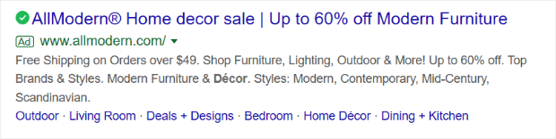 use your ad headline to show off a special deal