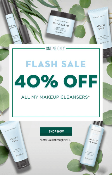 flash sale email example from innisfree