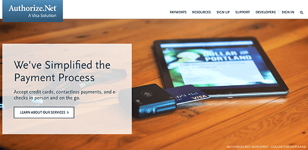 authorize.net ecommerce mobile payment